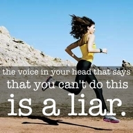 One of my favorite quotes.  Are you going to listen to that voice that says you can't?